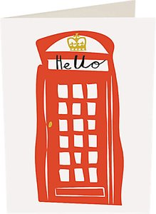 Read more about Caroline gardner hello telephone box notecards pack of 10