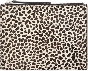 Read more about Jaeger animal print leather clutch bag multi