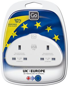 Read more about Go travel duo usb uk to eu travel adaptor