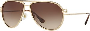 Read more about Versace ve2171b studded aviator sunglasses gold brown gradient