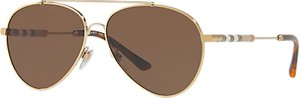 Read more about Burberry be3092q aviator sunglasses brown gold