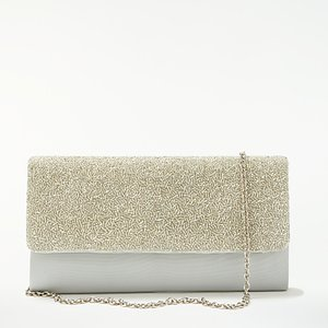 Read more about John lewis isla east west beaded clutch bag silver