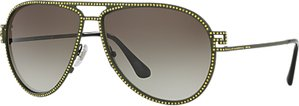Read more about Versace ve2171b studded aviator sunglasses green grey gradient
