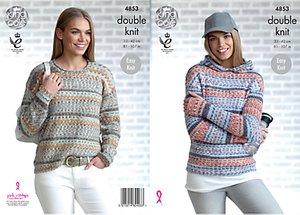 Read more about King cole drifter dk women s jumper knitting pattern 4853
