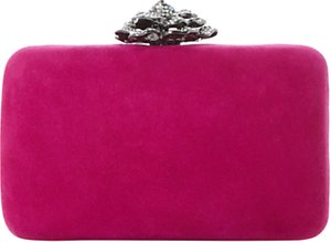 Read more about Dune bellflower box clutch bag fuchsia