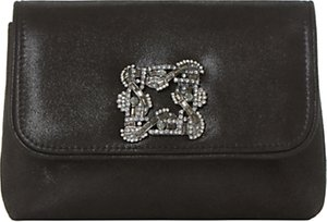Read more about Dune beston mini brooch clutch bag black metallic