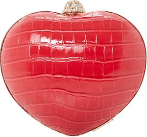 Read more about Dune babe heart clutch bag red