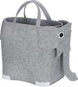 Read more about Little home at john lewis elephant felt storage bin grey