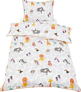 Read more about Little home at john lewis animal fun duvet cover and pillowcase set single