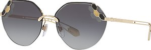 Read more about Bvlgari bv6099 geometric sunglasses gold grey gradient