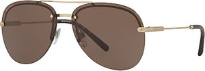Read more about Bvlgari bv5044 aviator sunglasses gold brown