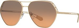 Read more about Bvlgari bv6098 aviator sunglasses gold grey rose