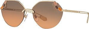 Read more about Bvlgari bv6099 geometric sunglasses gold grey rose