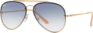 Read more about Ray-ban rb3584n blaze aviator sunglasses gold blue gradient