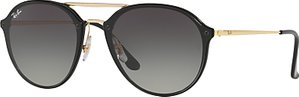 Read more about Ray-ban rb4292n blaze double bridge oval sunglasses black grey gradient