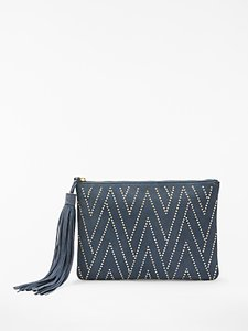Read more about And or isabella suede studded clutch bag blue