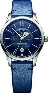Read more about Victorinox 241794 alliance women s moonphase date leather strap watch blue