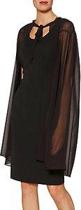 Read more about Gina bacconi amber chiffon cape dress black