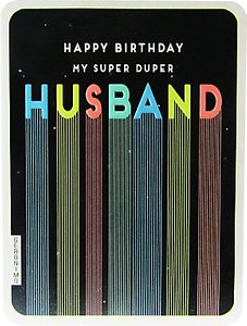 Read more about Art file super duper husband birthday card