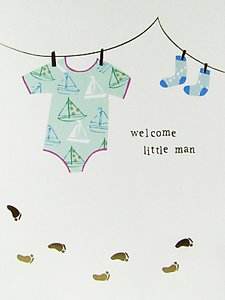 Read more about Caroline gardner welcome little man baby boy card
