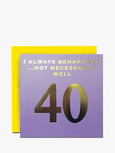 Read more about Susan o hanlon 40th birthday card