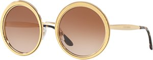 Read more about Dolce gabbana dg2179 textured round sunglasses gold brown gradient