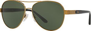 Read more about Ralph lauren rl7054q aviator sunglasses gold green
