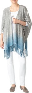 Read more about Pure collection dip dye knitted poncho blue grey