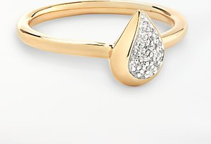 Read more about Modern rarity diamond teardrop ring gold