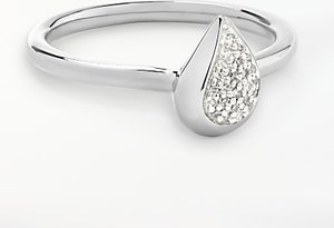 Read more about Modern rarity diamond teardrop ring silver