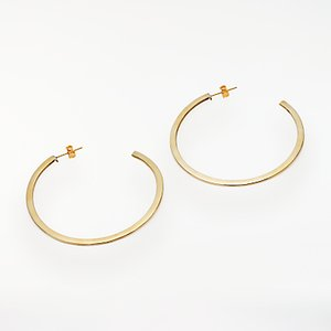 Read more about And or flat hoop earrings gold