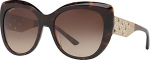 Read more about Bvlgari bv8198b chunky cat s eye sunglasses tortoise brown gradient