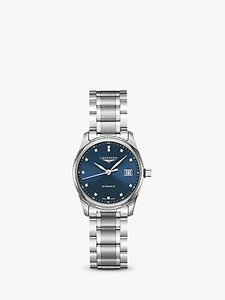 Read more about Longines l22574976 women s master collection automatic date diamond bracelet strap watch silver blue