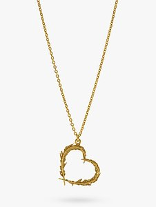 Read more about Alex monroe feather heart 22ct gold necklace gold