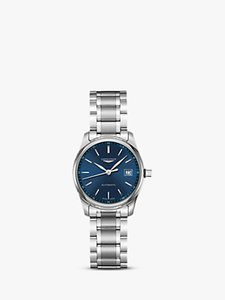 Read more about Longines l22574926 women s master collection automatic date bracelet strap watch silver dark blue