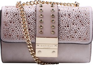 Read more about Carvela kankan clutch bag nude