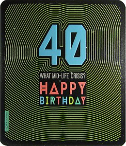 Read more about Art file what mid life crisis 40th birthday card