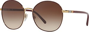 Read more about Burberry be3094 round sunglasses dark brown brown gradient