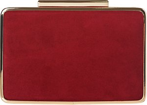 Read more about L k bennett nina suede box clutch bag poppy