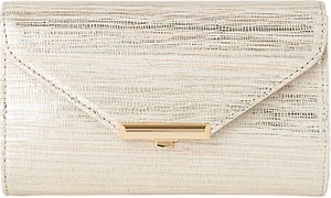 Read more about L k bennett sissi leather clutch bag soft gold