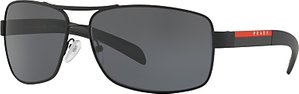 Read more about Prada linea rossa ps 54is polarised rectangular sunglasses black grey