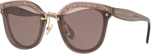 Read more about Miu miu mu 03ts oval sunglasses rose purple