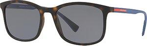 Read more about Prada linea rossa ps 01ts polarised rectangular sunglasses tortoise grey