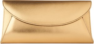 Read more about L k bennett flo fold-over clutch bag bronze
