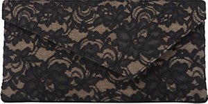 Read more about L k bennett leonie clutch black lace