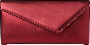 Read more about L k bennett leonie leather clutch red wine