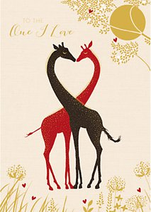 Read more about Art file husband giraffes valentine s day card