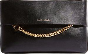 Read more about Karen millen leather chain zip clutch bag