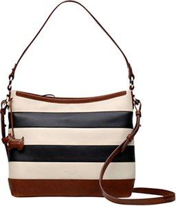 Read more about Radley stripe leather shoulder bag black cream