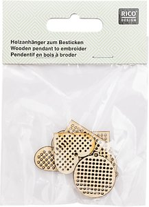Read more about Rico wooden christmas decorations embroidery kit